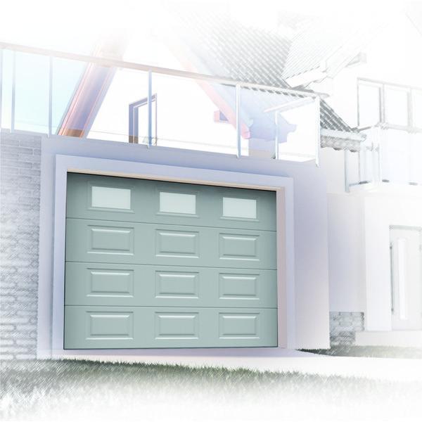 Porte de garage sectionnelle blanc