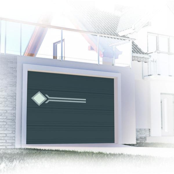 Porte de garage sectionnelle design