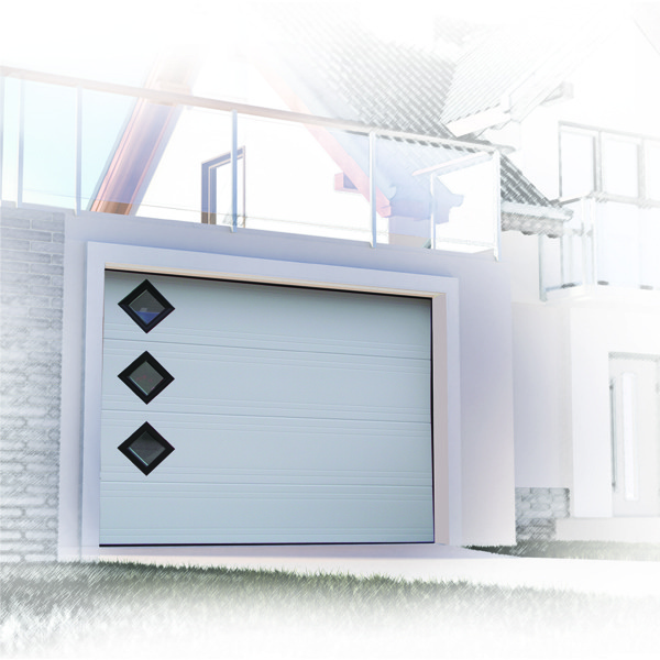 Porte de garage sectionnelle design 77