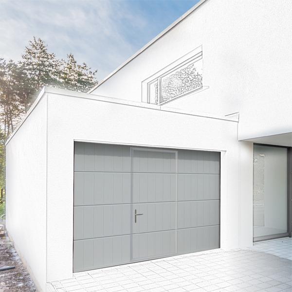 Porte de garage sectionnelle avec porte