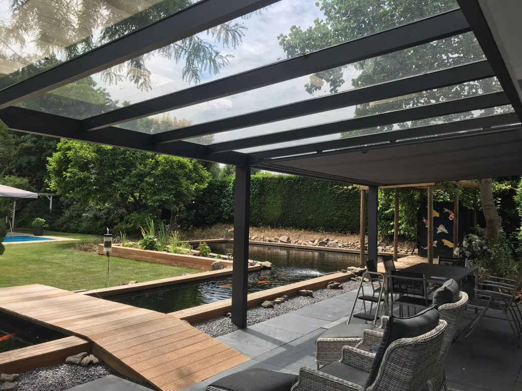 pergola aluminium toit en verre