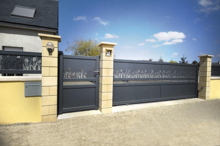 portai coulissant portillon clôture aluminium