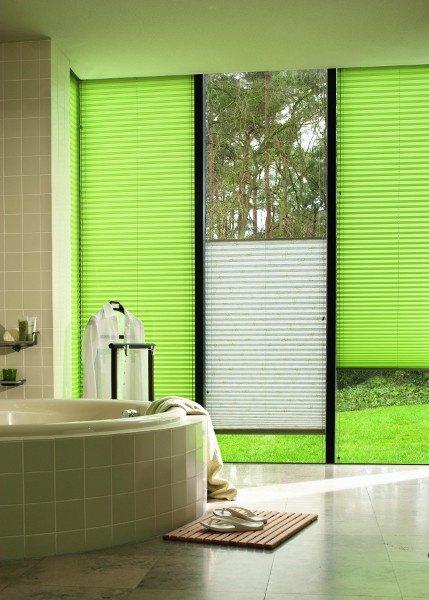 stores plissés vert